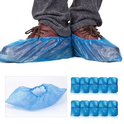 100 Pc Household Rain Waterproof Disposable Shoe Covers Overshoes Boot Covers CA