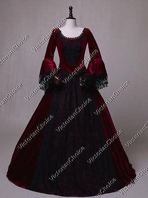 Victorian Gothic Game of Thrones Dress Gown Punk Vampire Halloween Costume 153