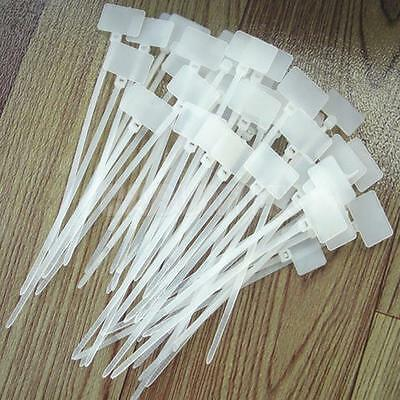 100x Assorted Nylon Zip Tie Cable Wrap Self Loop Wire Plastic Electrical Tag