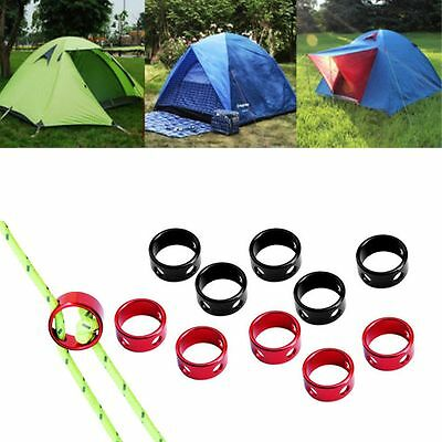 5pcs Aluminum Alloy Tensioner Cord Stopper Tent Fastener Wind Rope Buckle