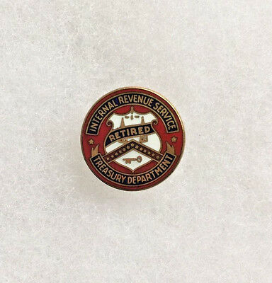 Vintage Internal Revenue Service Retired Employee Gold Filled Service Pin - IRS