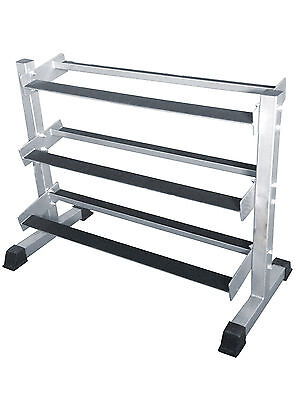 Brand New Force USA 3 Tier Flat Shelf Dumbbell Rack for RHD - Home Use