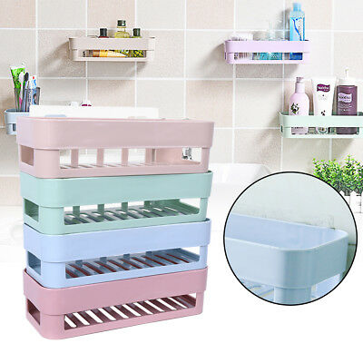 Plastic Bathroom Kitchen Corner Wall Storage Rack Organizer Shower Shelf Basket
