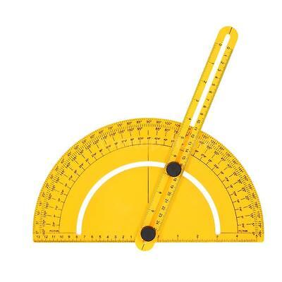 180° Plastic Protractor Angle Finder Measure Ruler Goniometer Template Tool