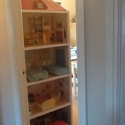 vintage sindy house with furniture, horses, range rover  etc