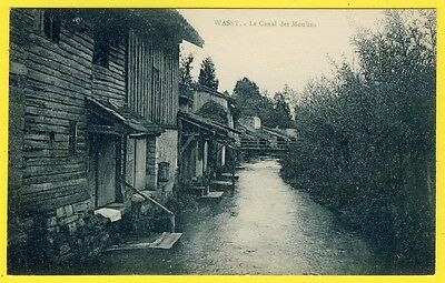 cpa 52 - WASSY (Haute Marne) Le CANAL des MOULINS