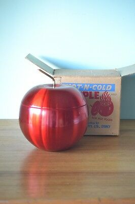 Vintage red anodised apple ice bucket  Brand New in Box