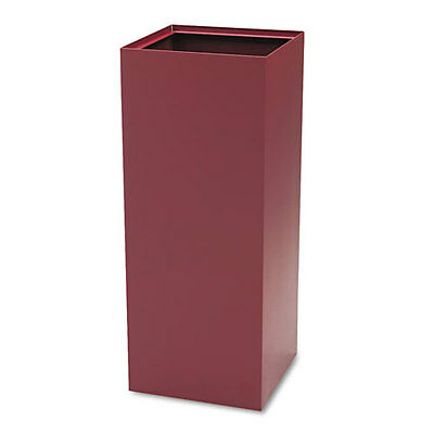 Safeco Public Recycling Container, Square, Steel, 37 gal, Burgundy SAF2983BG