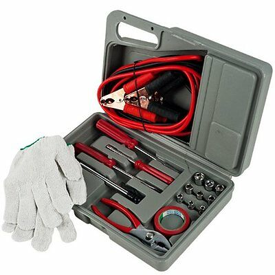 Jumper Cables - 30Pc Emergency Car Auto Truck Tool Kit Mechanic Tool Set