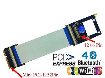 Mini PCI-E to BCM94360CD/ BCM94331CD Flexible  Adapter With Wireless Antenna