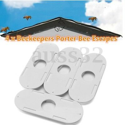 4 x Beekeepers Porter Bee Escapes White Useful Beekeeping Beekeeper Tools