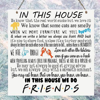 Personalised Friends TV show Quotes Family Rules In This House Plaque
