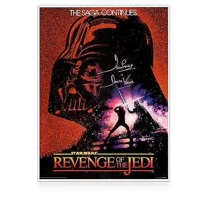 Darth Vader Signed Revenge Of The Jedi Poster Autographed Memorabilia