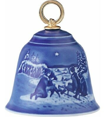 BING & GRONDAHL 2014 Christmas Bell B&G – New in Box!  Sled Ride in the Snow