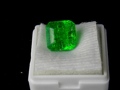 8.35 ct. Certified Octagon Shape Natural Zambia Emerald Loose Gemstone