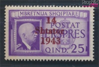 Albanien (Dt.Bes.2.WK.) 14 mit Falz 1943 Shtator (7139896