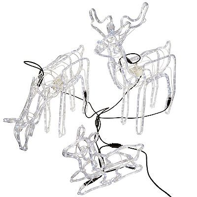 WeRChristmas Pre-Lit Large 3D Animated Reindeer Family Christmas Silhouette L...