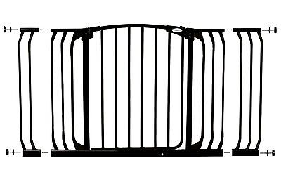 Dreambaby Chelsea Xtra-Wide Gate Set - 1 gate + 2 extensions (Fits 97cm-133cm...