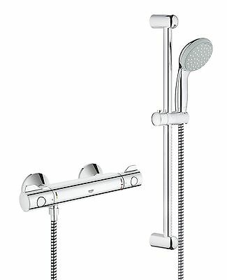 GROHE 34565000 Grohtherm 800 Shower Thermostat with Tempesta Shower Set 600 m...