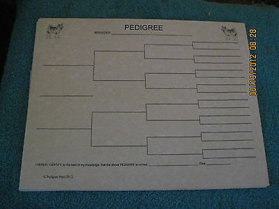 Norwegian Elkhound Blank Pedigree Sheets Pack 10 FREE SHIPPING IN USA dog