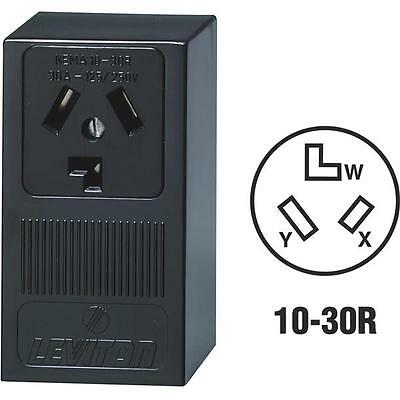 10 Pk Leviton 30A 250V Surface Mount Black 10-30R 3-Wire Dryer Power Outlet 5054