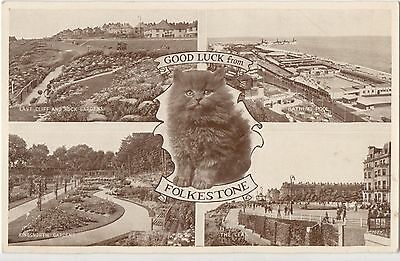 POSTCARD KENT FOLKESTONE   Good  Luck