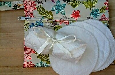 Reusable Make Up Removal Pads with Bag - 100% Cotton Rounds