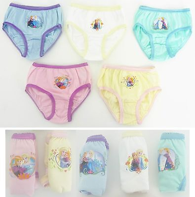 Frozen Briefs Pants Knickers Pack Of 5 18-23 Months 2-3 3-4 & 4- 5 Years NEW