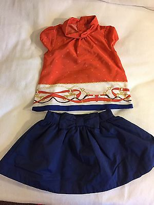 Janie And Jack Girls 12-18 Months Shirt And Skirt