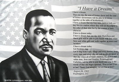 Martin Luther King Flagge Fahne Posterflagge I Have A Dream 1929 - 1968