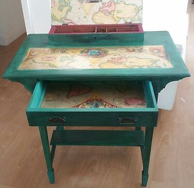 Small Edwardian Writing Desk Upcyled Shabby Chick