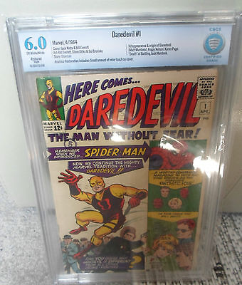 Marvel Comics Daredevil #1 original Costume CBCs cgc 6.0 silver age 1964 cent