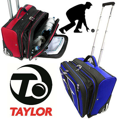 Taylor Bowls Trolley Case Lawn Bowling Sports Bag With Wheels Travel Luggage