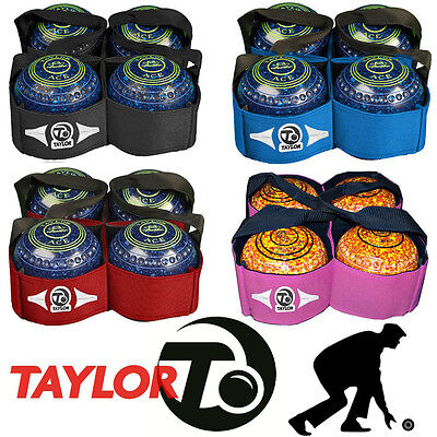 Thomas Taylor Lawn Bowling Carry Bag 4 Bowls Sling Bag Black Blue Pink Red