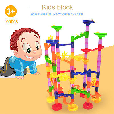 105X Kids Deluxe Marble Race Game Marble Run Play Building Blocks Baby Toys