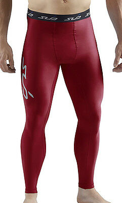 Sub Sports Cold Thermal Mens Long Compression Tights - Red