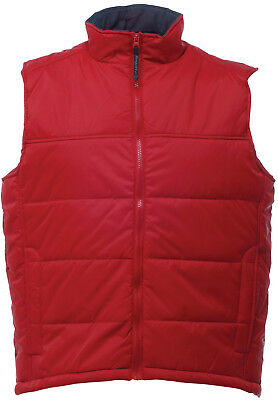 Regatta Stage Padded Mens Bodywarmer Gilet - Red