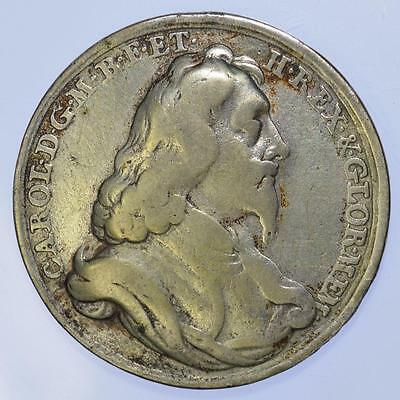 England - Charles I Silver memorial medal by Roettier Ca. 1695