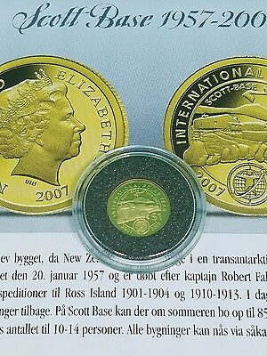 2007 New Zealand $1 Gold Proof 1/25 LOW MINTAGE PROOF