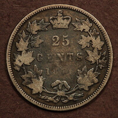 Canada 25 Cents 1871 - Obverse 1 - Silver Good