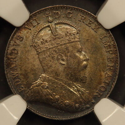 Canada 10 Cents 1902 Silver NGC MS 62
