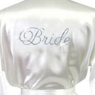 Bride Personalised Bridal Wedding Satin Robe Gown Mother Bridesmaid Party