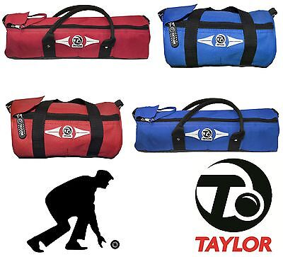 Thomas Taylor 2 & 4 Lawn Bowl Cylinder Bags Red Blue Sports Gym Bag