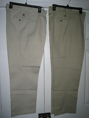2 Pairs of Tommy Hilfiger Casual Pants - Cotton - Pleated - Uncuffed - 30x34-EUC
