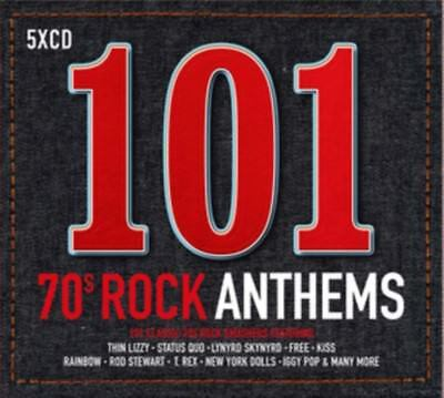 101 SONGS 70s Rock Anthems 5CD Set NEW 2017