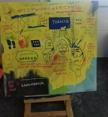 Neo Expressionist painting in the style of Jean Michal Basquiat (Hollywood Afric