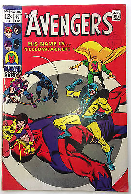 "Avengers #59 ""His name is yellowjacket"" , Marvel comics 1968"
