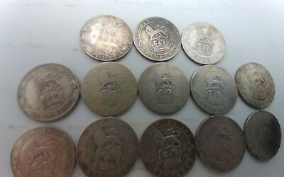 GREAT BRITIAN UK SIX PENCE SILVER COIN LOT 1900s