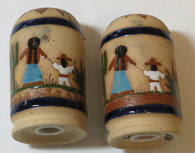 Mexican Ceramic Mexico salt & pepper shakers set kitchen dinner table decoration