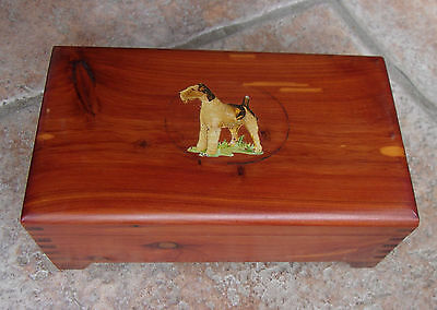 Welsh Terrier Small Cedar Wooden Trinket Box